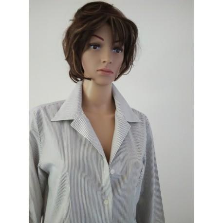 Fine Stripe Black & White long arm shirt