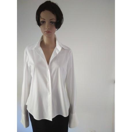 White Long Slim fit Shirt