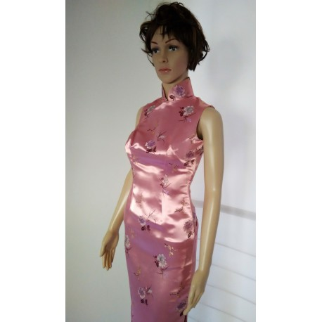 Elegant Pink Chinese Evening Mermaid