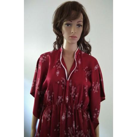 Chinese Silk Satin Women's Long Dress