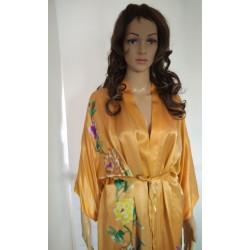Women Chic Silk Robe -Kimono Geisha Style