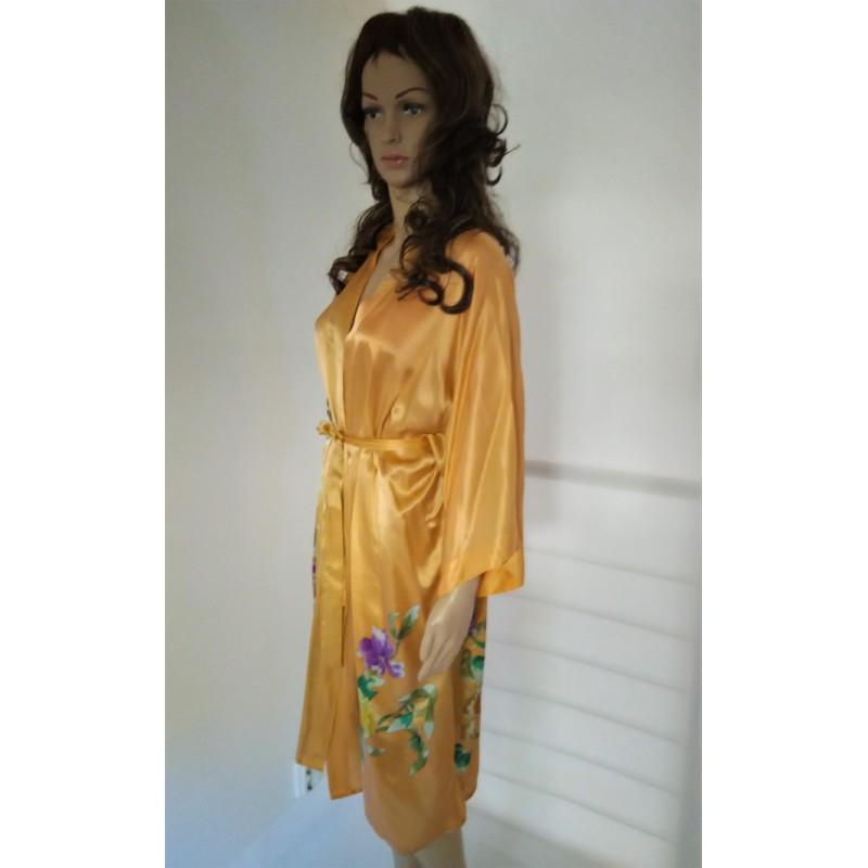 6dc45aa1e2d Women Chic Silk Robe -Kimono Geisha Style - Chooleo niche corner